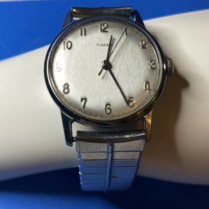Timex vintage watch 1970's Hand Winding Silver